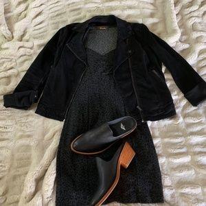 Black Leopard Bodycon Mini Dress SM